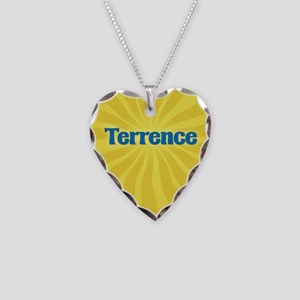 Terrence Sunburst Necklace Heart Charm