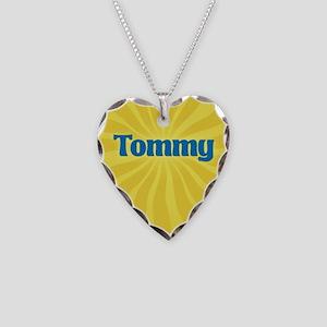Tommy Sunburst Necklace Heart Charm