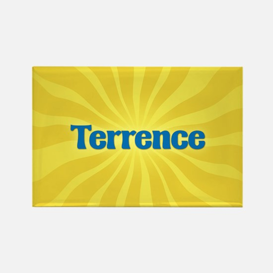 Terrence Sunburst Rectangle Magnet