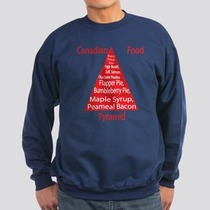 Canadian Food Pyramid Sweatshirt (dark)