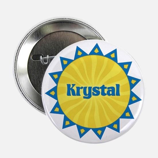 Krystal Sunburst Button