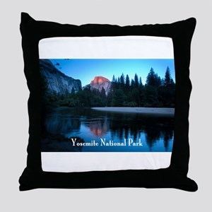 Half Dome sunset in Yosemite National Park Throw P
