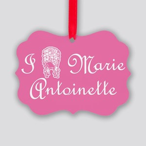 I Love (Wig) Marie Antoinette Pink Picture Ornamen