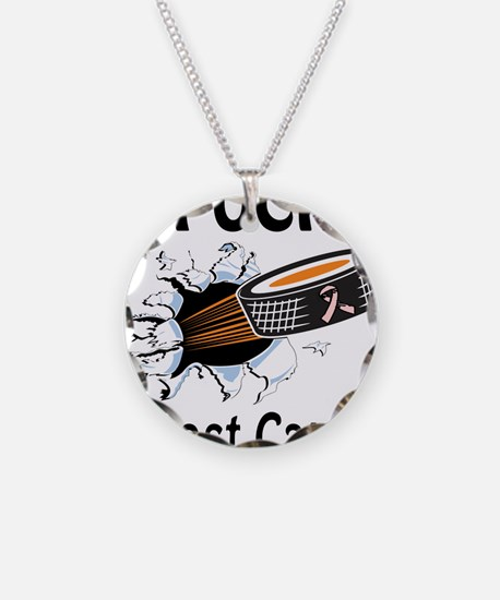 Puck Breast Cancer Necklace