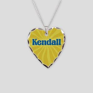Kendall Sunburst Necklace Heart Charm