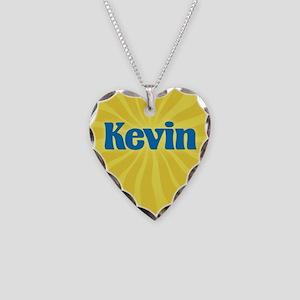 Kevin Sunburst Necklace Heart Charm