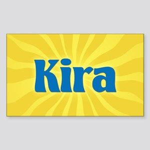 Kira Sunburst Oval Sticker