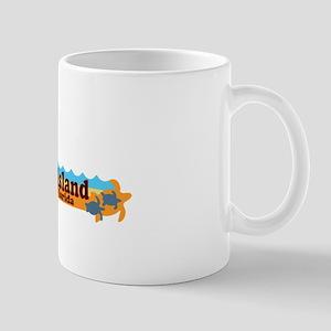 Amelia Island - Beach Design. Mug