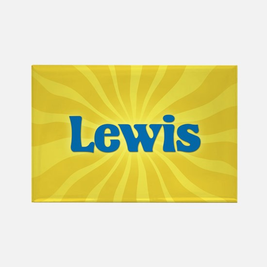 Lewis Sunburst Rectangle Magnet
