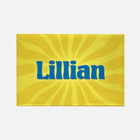 Lillian Sunburst Rectangle Magnet