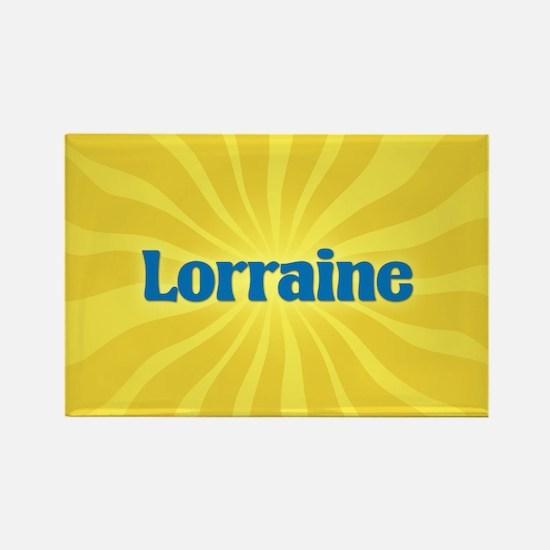 Lorraine Sunburst Rectangle Magnet