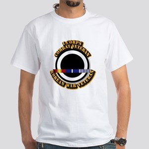 Army - I Corps w Korean Svc White T-Shirt