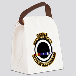 Army - I Corps w Korean Svc Canvas Lunch Bag