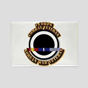 Army - I Corps w Korean Svc Rectangle Magnet
