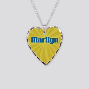Marilyn Sunburst Necklace Heart Charm