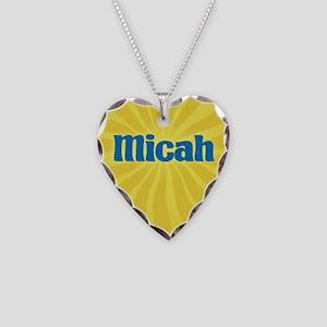 Micah Sunburst Necklace Heart Charm