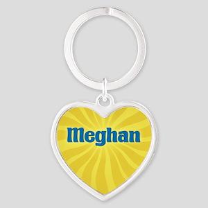 Meghan Sunburst Heart Keychain
