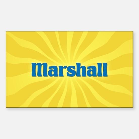 Marshall Sunburst Oval Decal
