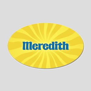 Meredith Sunburst 20x12 Oval Wall Decal