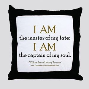 """Master Of My Fate"" Throw Pillow"