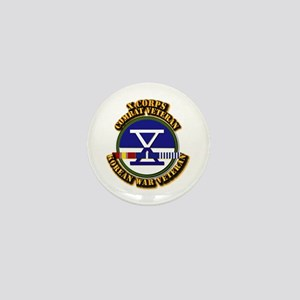 Army - X Corps w Korean Svc Mini Button