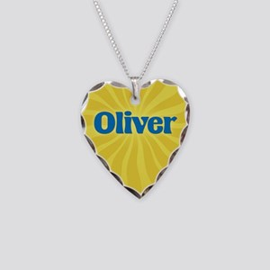 Oliver Sunburst Necklace Heart Charm
