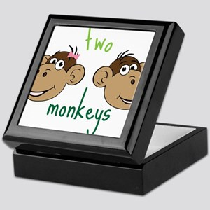 Two Monkeys Keepsake Box