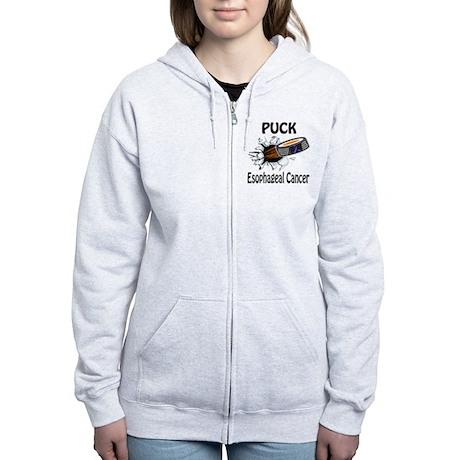 Puck Esophageal Cancer Women's Zip Hoodie