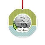 Personalized Pea Pod Baby Ornament
