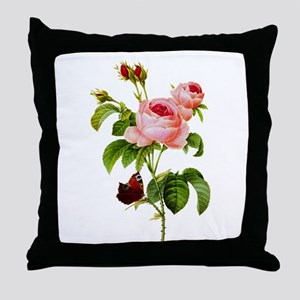 Pierre-Joseph Redoute Rose Throw Pillow