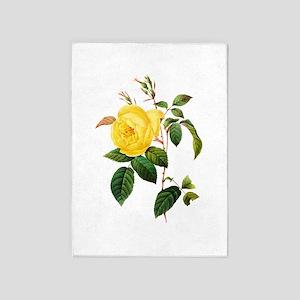 Pierre-Joseph Redoute Rose 5'x7'Area Rug