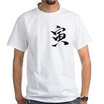Year of the Tiger Kanji White T-Shirt