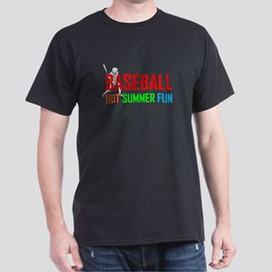 Baseball Hot Summer Fun Dark T-Shirt