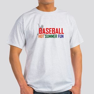 Baseball Hot Summer Fun Light T-Shirt