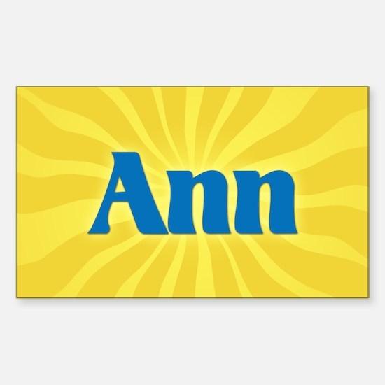 Ann Sunburst Oval Decal