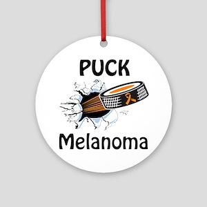 Puck Melanoma Ornament (Round)