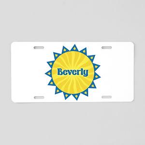 Beverly Sunburst Aluminum License Plate