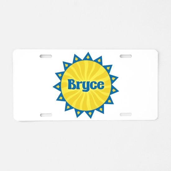 Bryce Sunburst Aluminum License Plate