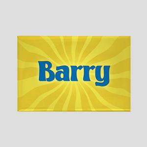 Barry Sunburst Rectangle Magnet