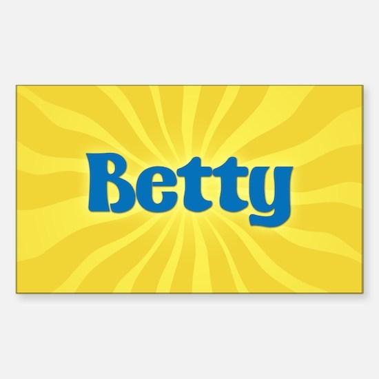 Betty Sunburst Oval Decal