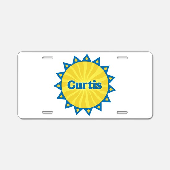 Curtis Sunburst Aluminum License Plate