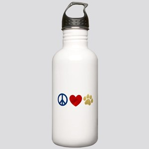 Peace Love Paw Print Stainless Water Bottle 1.0L