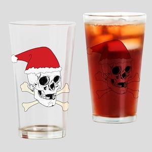 Santa Skull Drinking Glass