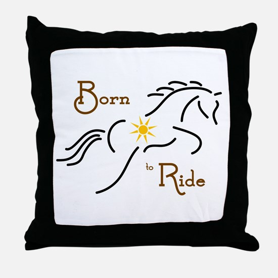 Born to Ride - Throw Pillow