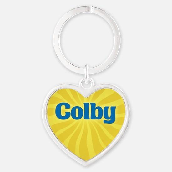 Colby Sunburst Heart Keychain