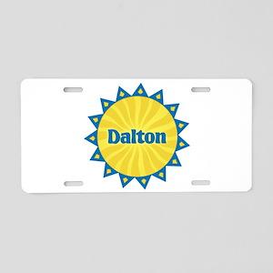 Dalton Sunburst Aluminum License Plate