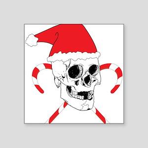 "Santa Skull Square Sticker 3"" x 3"""