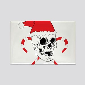 Santa Skull Rectangle Magnet
