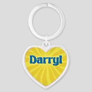 Darryl Sunburst Heart Keychain