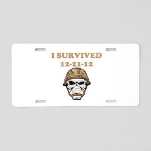 survived Aluminum License Plate